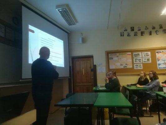 Lekcja o profesorze Michałowskim w LO im. Mikołaja Reja w Warszawie