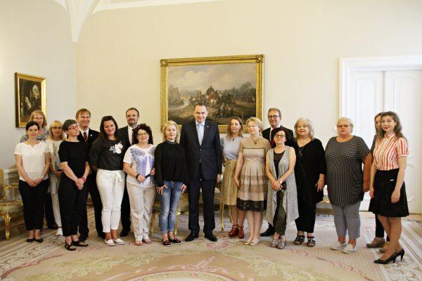 Nauczyciele z Niemiec z wizytą w Pałacu Prezydenckim