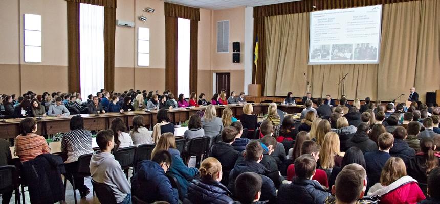 """Konferencja """"Język obcy jako narzędzie mobilności przyszłych specjalistów"""" w Krzywym Rogu"""
