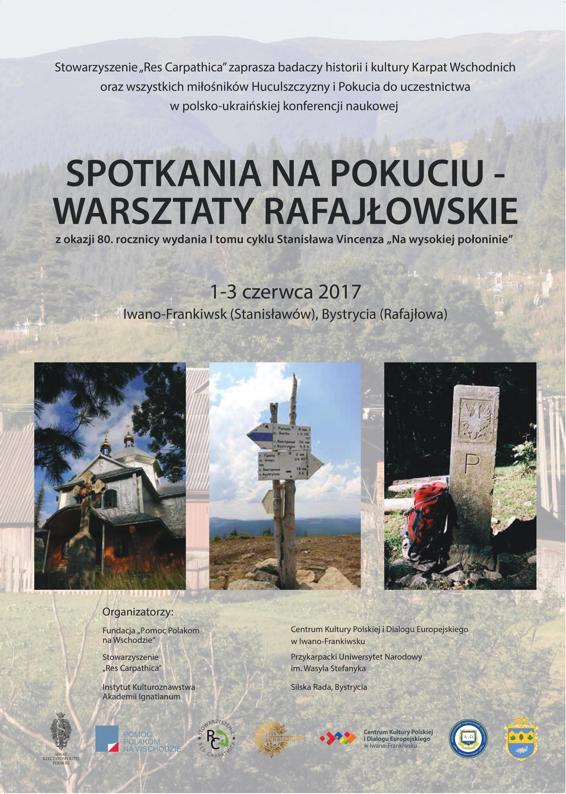Spotkania na Pokuciu – Warsztaty Rafajłowskie 2017