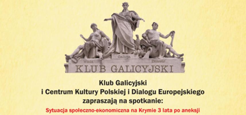 Klub Galicyjski: Sytuacja społeczno-ekonomiczna na Krymie 3lata po aneksji