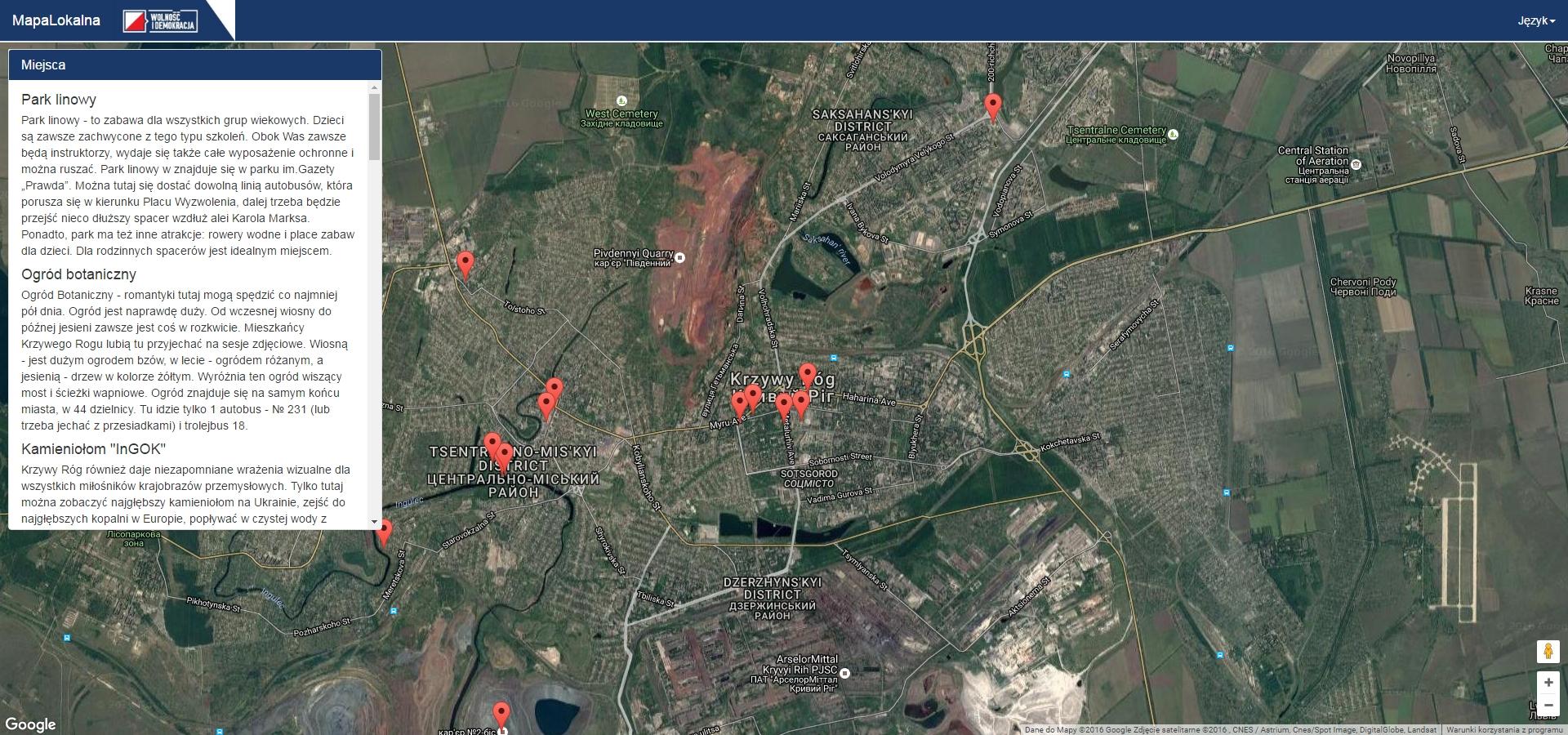 Mapa lokalna Krzywego Rogu, czyli młodzi liderzy w akcji