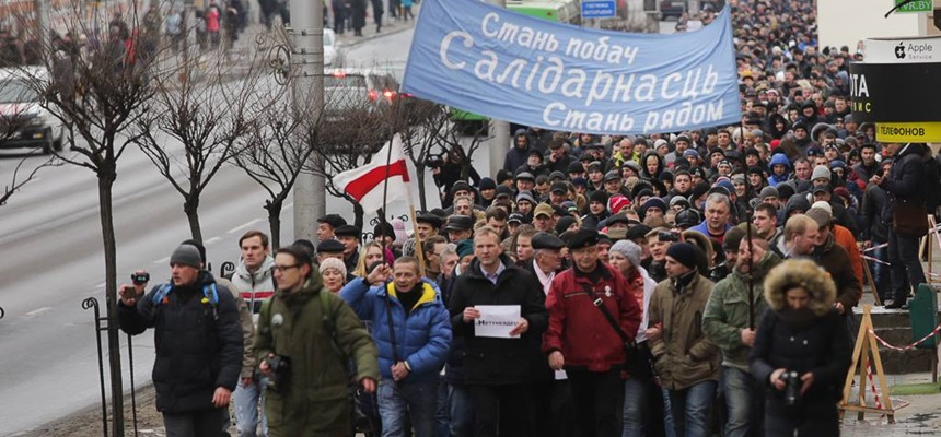 Biełsat relacjonuje protesty na Białorusi