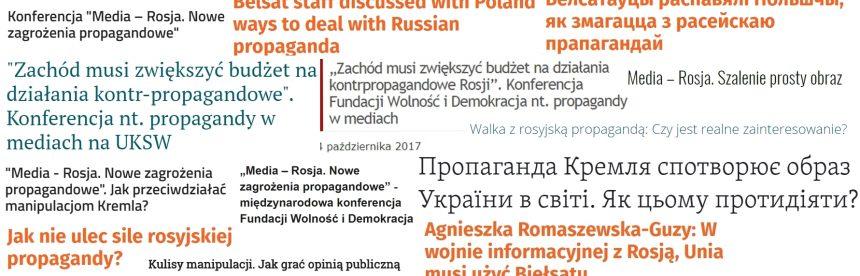 """Medialne echa konferencji """"Media-Rosja. Nowe zagrożenia propagandowe"""""""